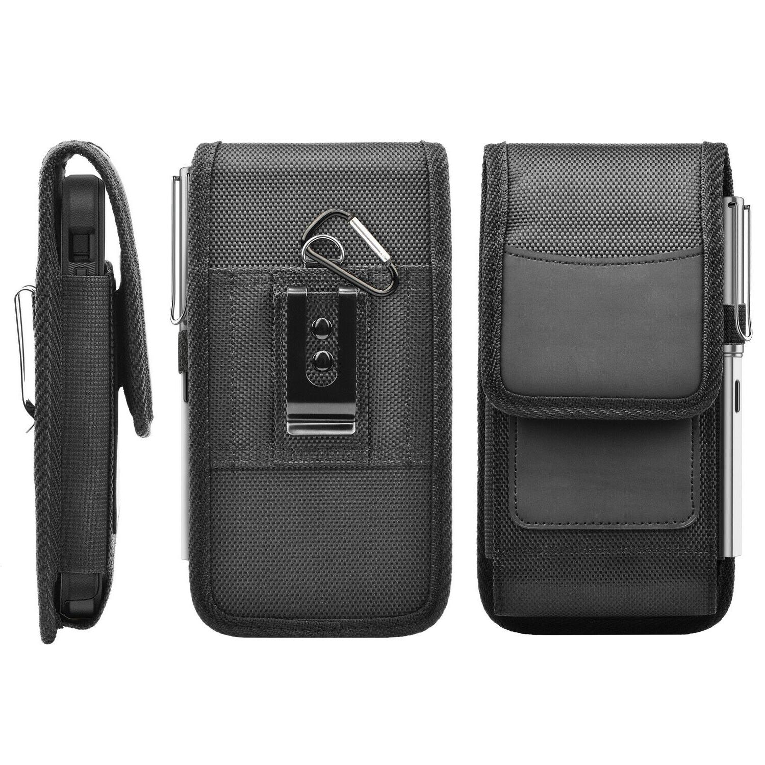 Cell Holster Clip Pouch Rugged Holder Nylon Cover