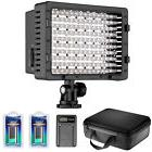 Neewer CN-160 LED Dimmable Video Light Kit with Battery / Ch