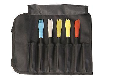Mercer Culinary 35615 Silicone Plating Brush Set with Storag