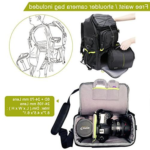 Endurax Extra DSLR/SLR for Outdoor Hiking Trekking with Laptop Compartment