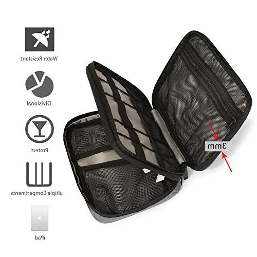 BAGSMART Travel Organizer Electronics for Cables, iPhone, Charge, Charger,