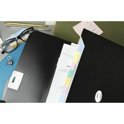 Expanding File Carrying Case for Business Trips Work, Black