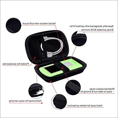 EMAY Hard Case/Carrying for Portable ECG Monitor