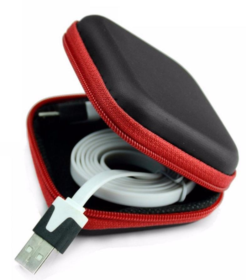Hard Earbuds Carrying Storage Cover Zippered Pouch