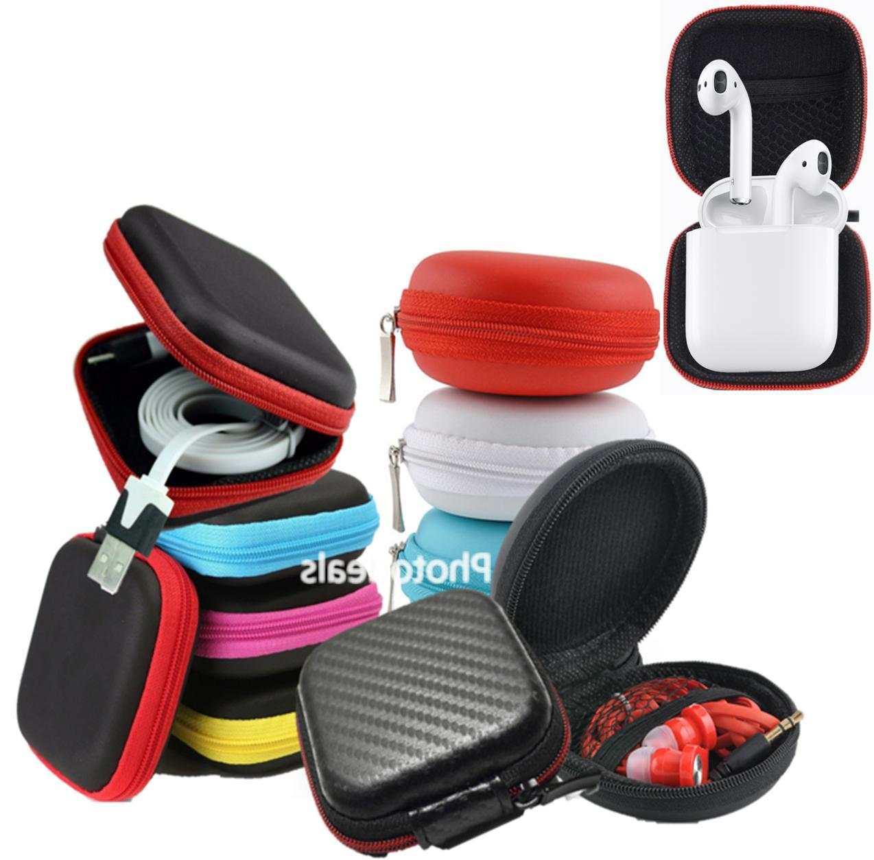 hard earphones earbuds airpods carrying storage case