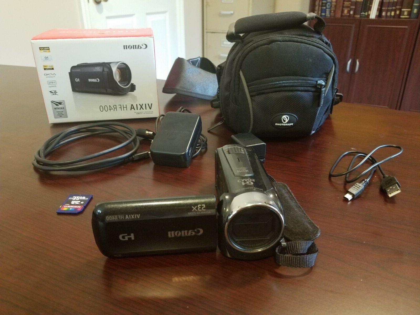 hf r400 camcorder 32gb sd card carrying