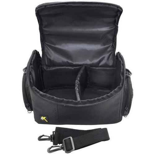 large padded carrying case and shoulder bag