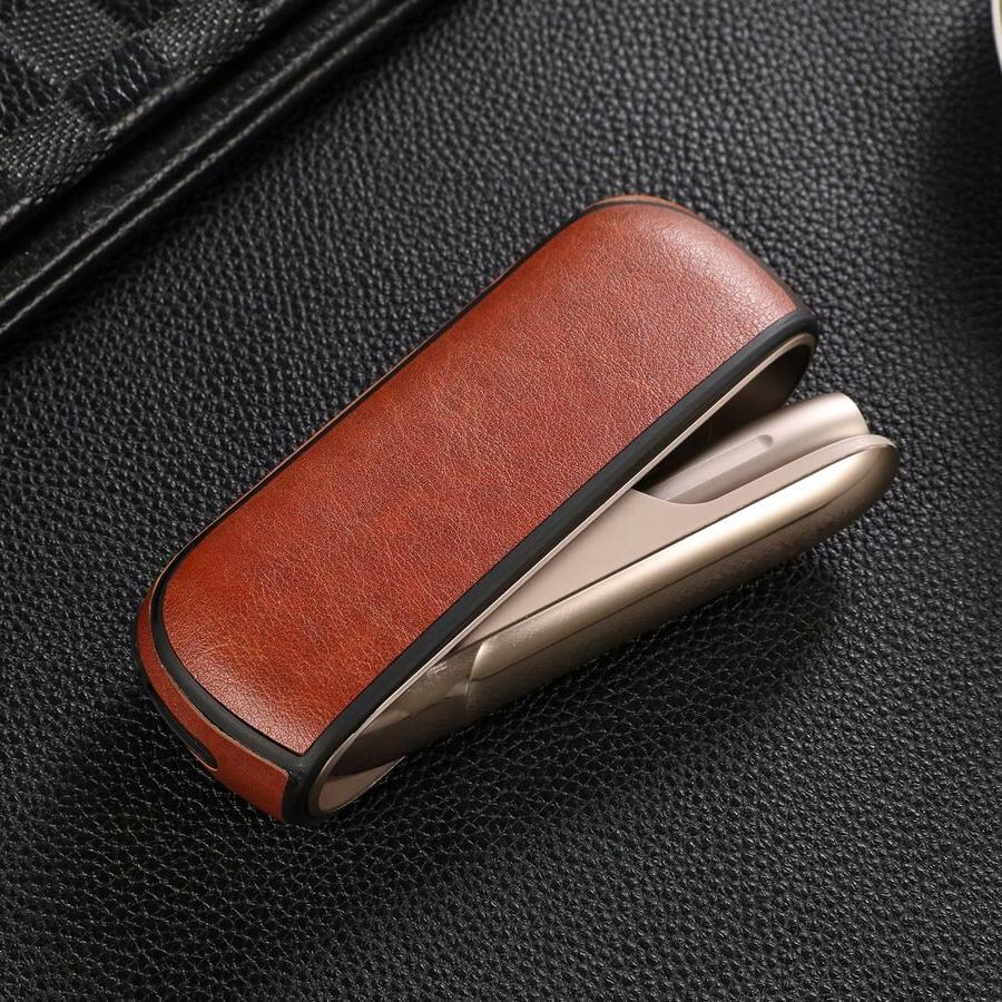 Luxury Iqos Cigarette Accessories <font><b>Carrying</b></font> Soft TPU+PU Cover for 3.0