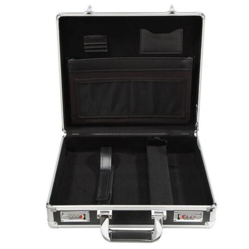 Mens Aluminum Briefcase with Outdoor Carrying Case