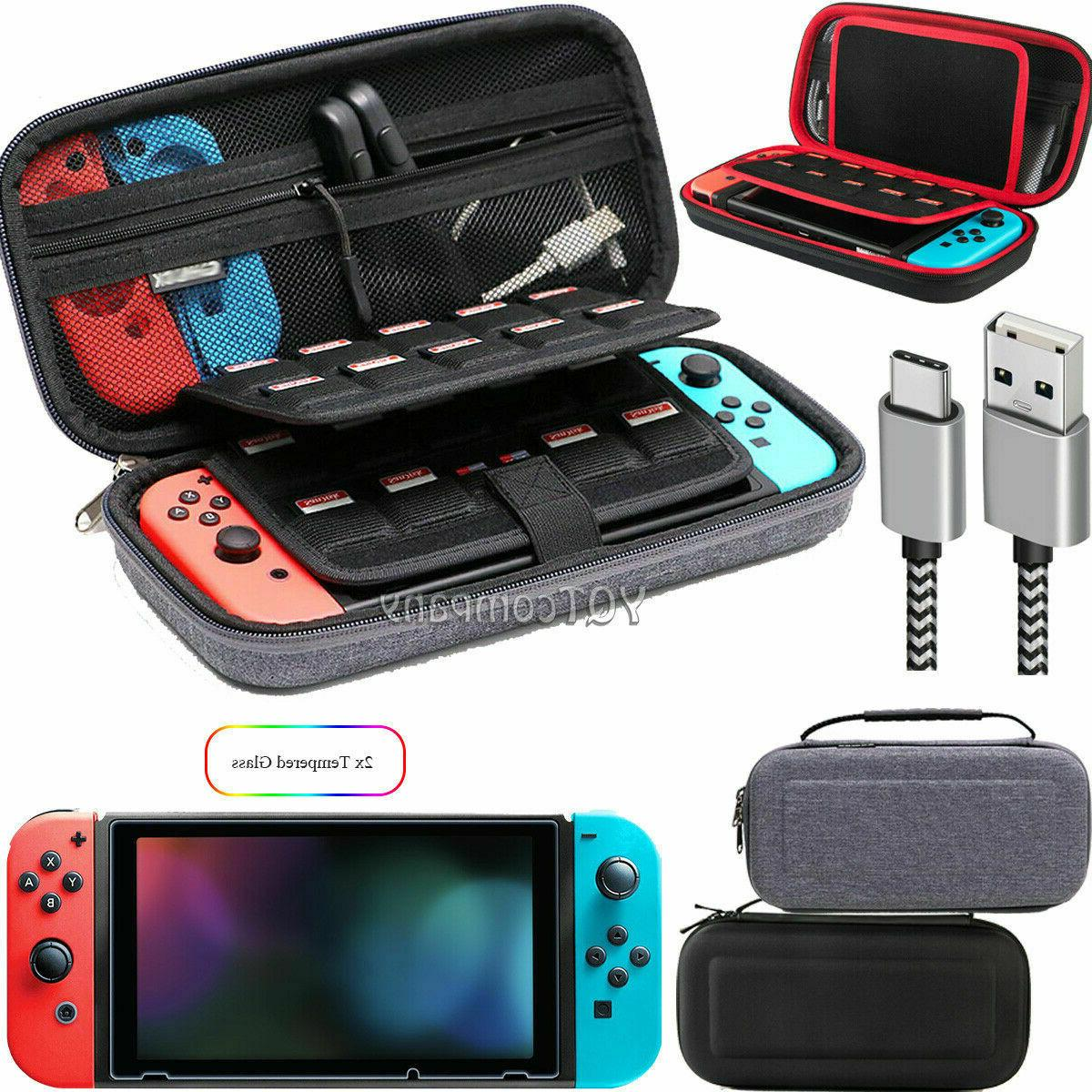 nintendo switch carrying case hard shell portable