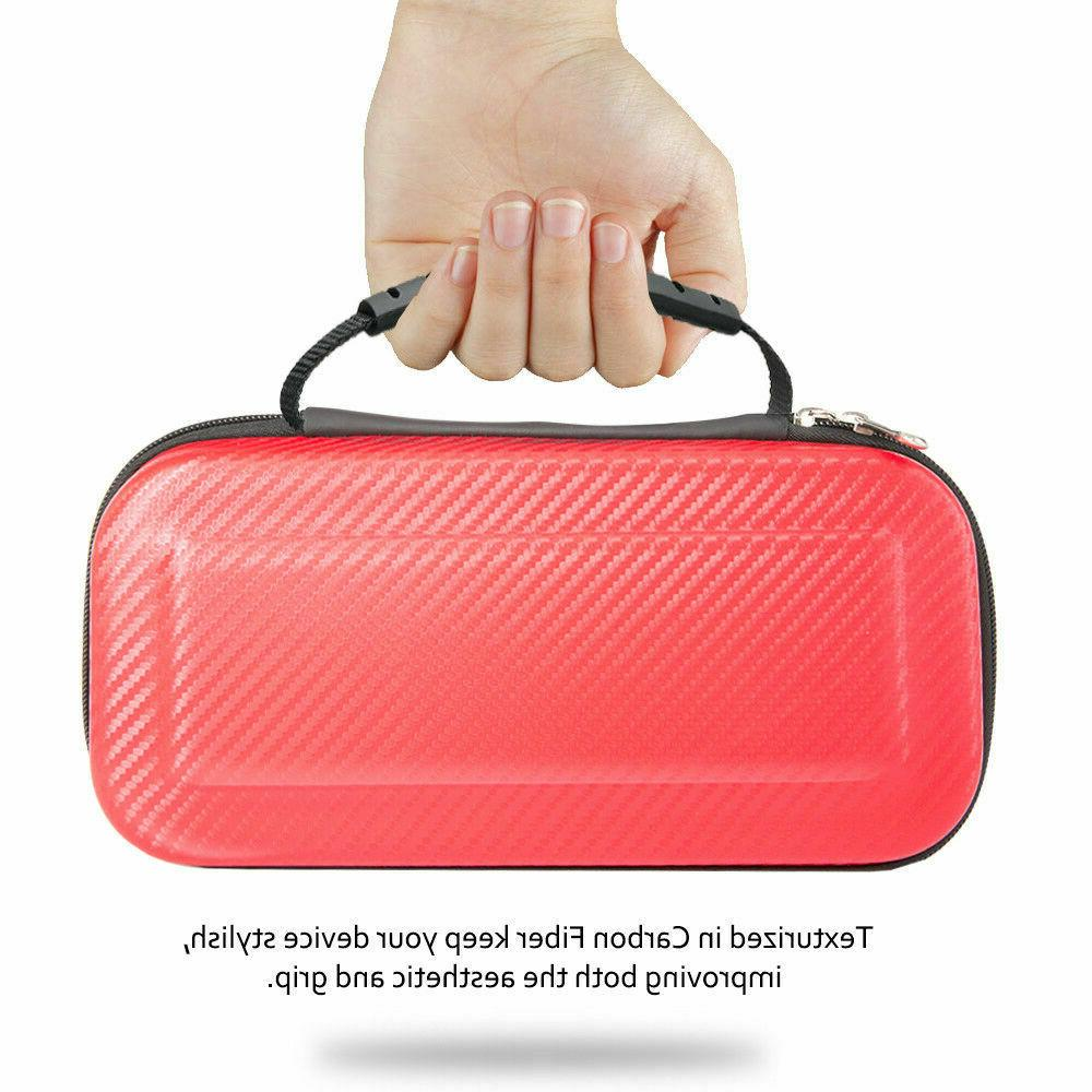 Nintendo Switch Carrying Case Carbon Shell Portable Travel