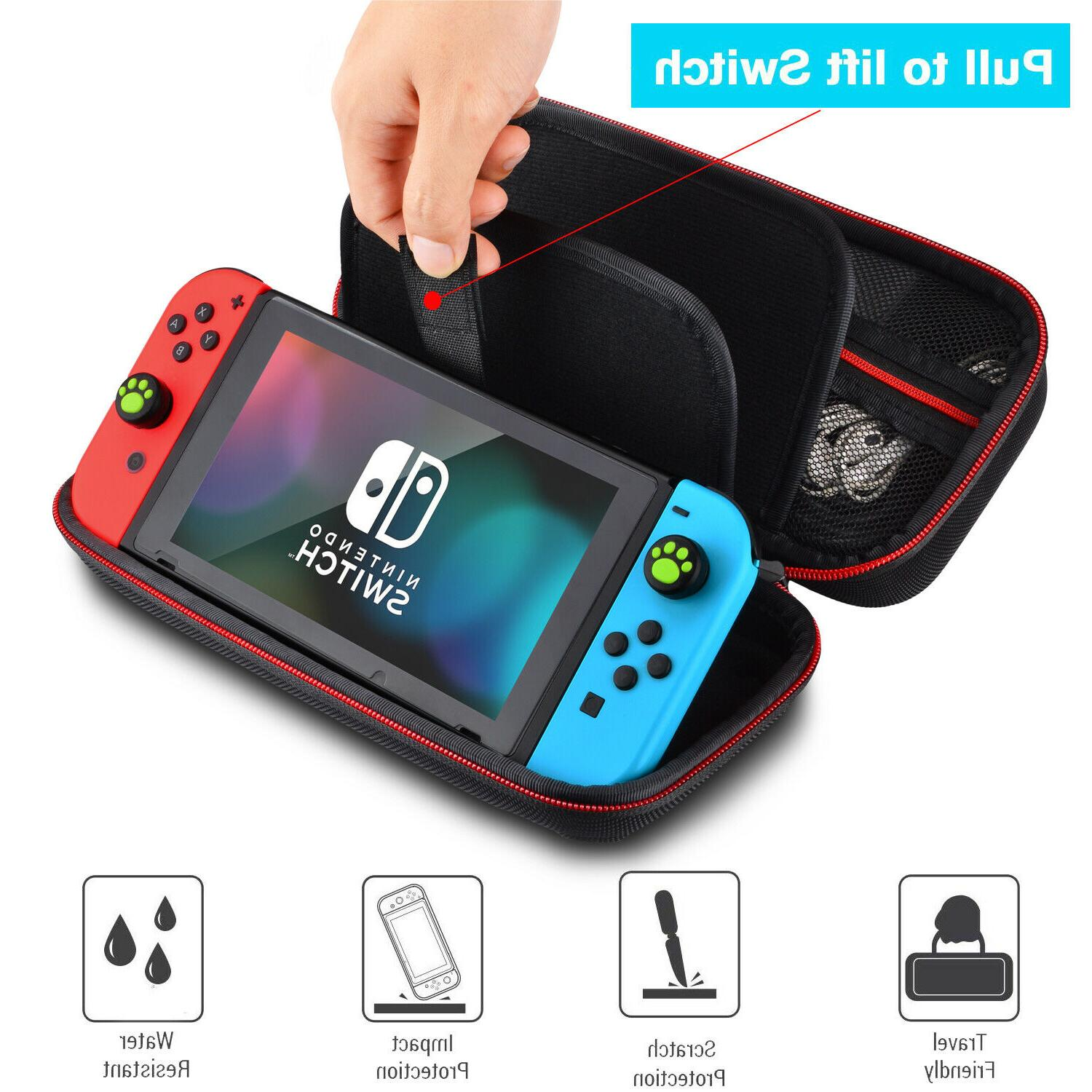 For Switch Case Travel Bag Pouch Hard Cover