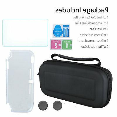 Carrying Case Bag+Shell Cover+Tempered Glass Protector