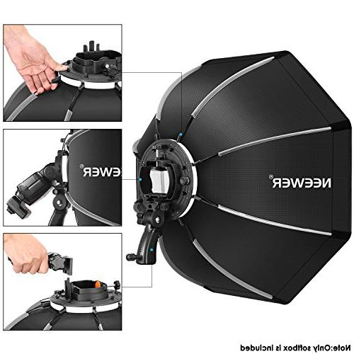 Neewer Octagonal Bracket Mount,Carrying Case Canon Nikon NW561 NW562 NW680 NW880 Flash