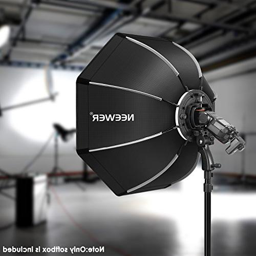 Neewer inches/65 Octagonal Softbox with Bracket for Canon NW562 NW565 NW680 NW880 Flash