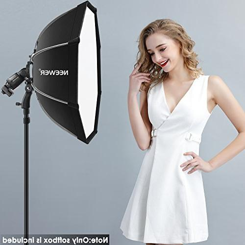 Neewer 26 inches/65 centimeters Octagonal Softbox with Bracket Mount,Carrying Case Canon Nikon NW562 NW565 NW620 NW630 NW680 750II NW910 NW880 Flash