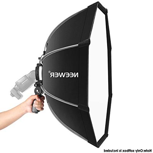 Neewer 26 centimeters Octagonal Bracket Mount,Carrying Case Canon Nikon NW562 NW880 Flash Speedlites
