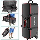 """Neewer Photo Trolley Bag 30""""x11""""x11""""/77x28x27cm with Padded Compartment Wheel, Handle for Stand, Strobe Umbrella, Photo Studio Other"""