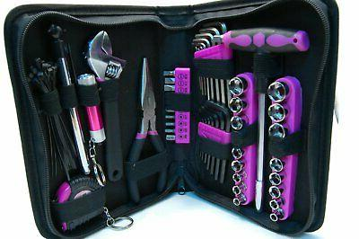 Pink Ladies Ladies 85pc Pink Tool Kit with Pouch
