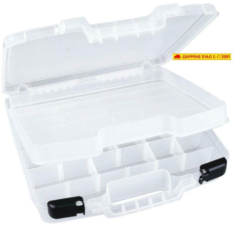 quick view deep base carrying case divided