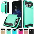 For Samsung Galaxy S8 Plus Wallet Shockproof Case Hybrid Car