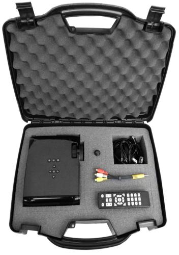 secure projector hard carrying case