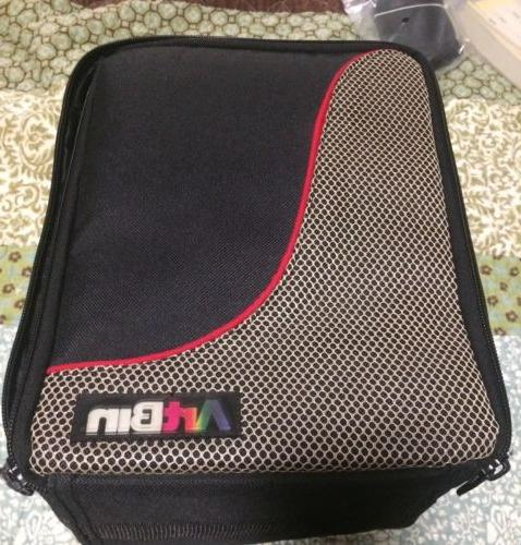 soft carrying case with 4 hard clear