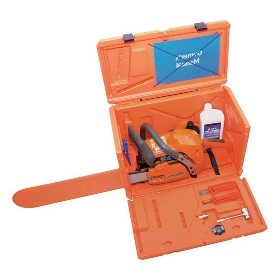 Husqvarna Stackable Orange Chainsaw Storage Carrying Case, N