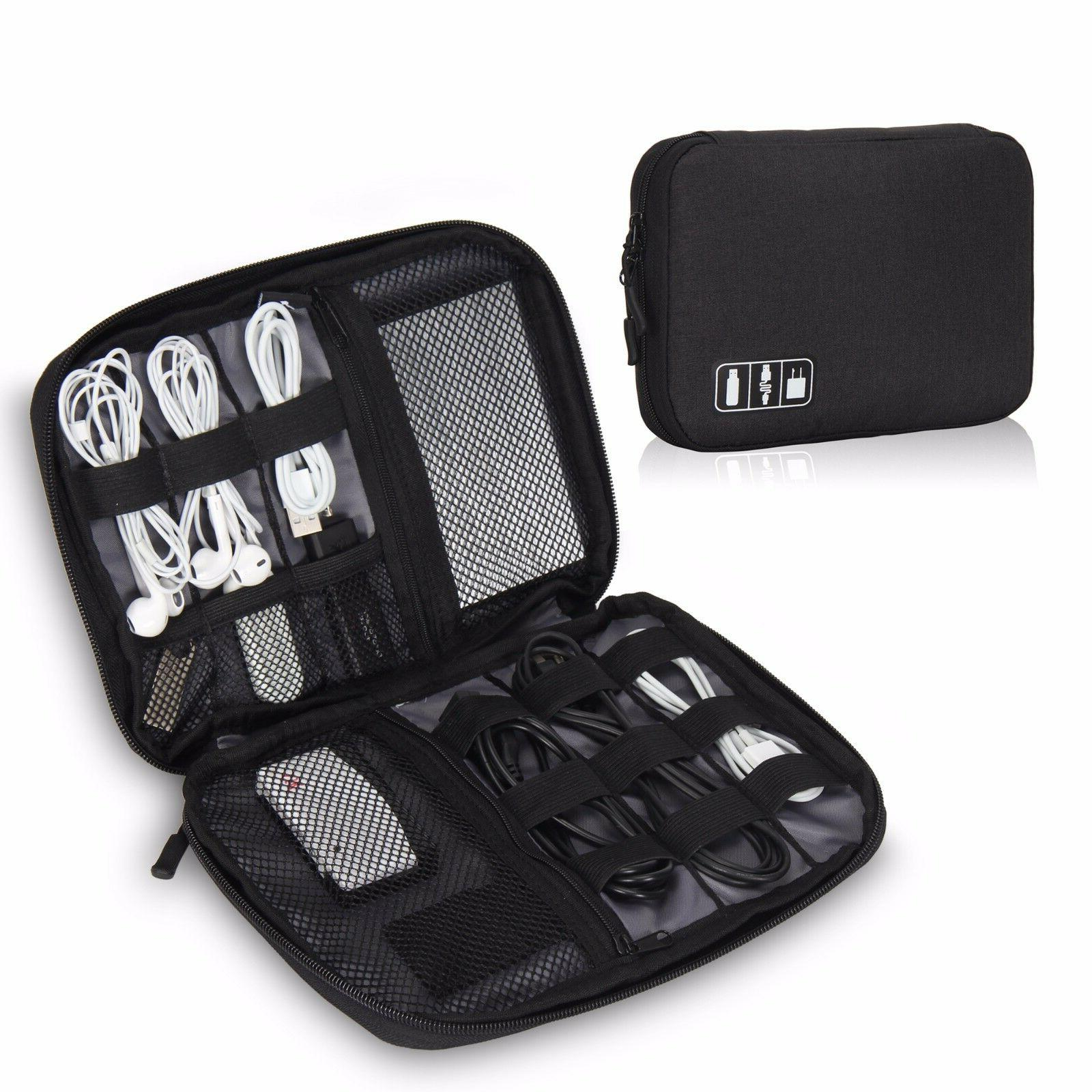 travel cable cord organizer electronics accessories bag