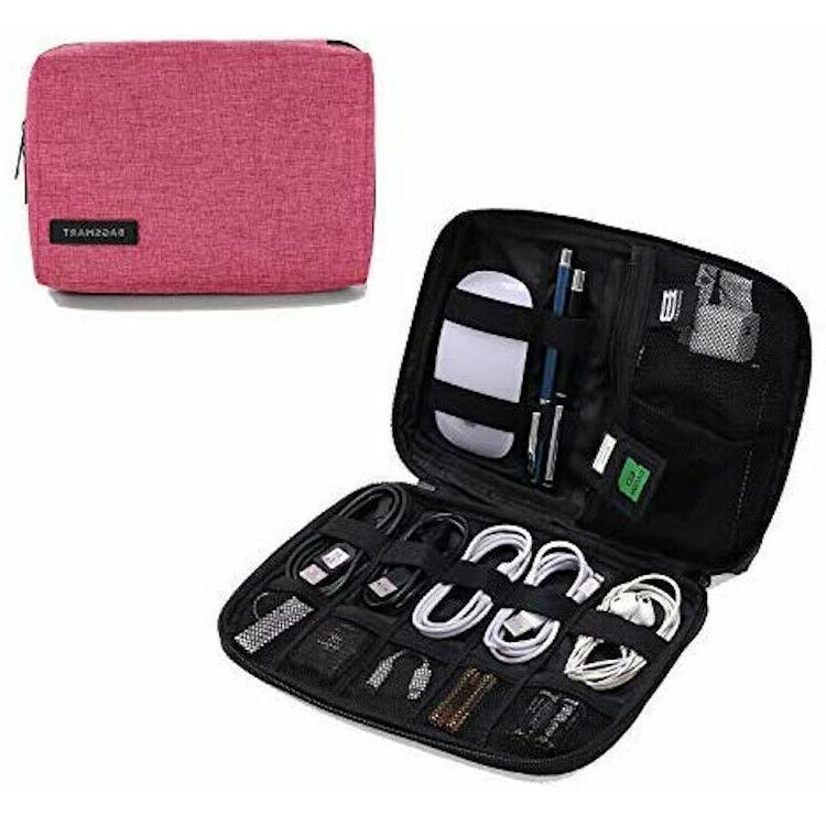 Travel Organizer Carrying Cable Charger USB Card