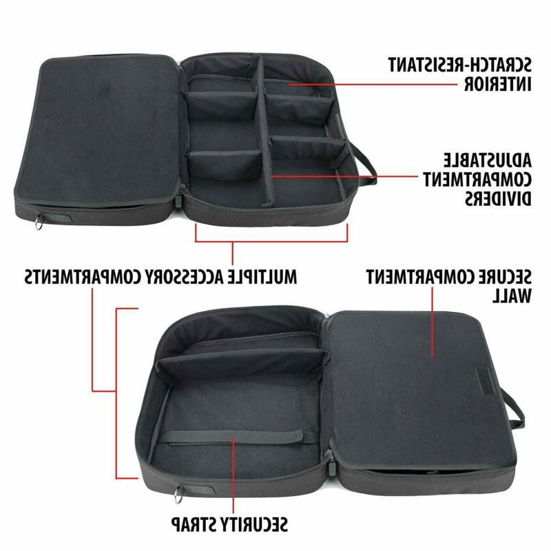 Video Case Bag Scratch-Resistant with Dividers