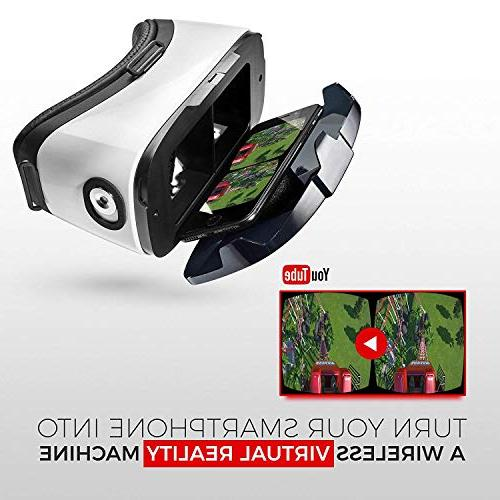 """VR - Reality Goggles by VR WEAR 3D Glasses for S6/S7/S8/Note Smartphones with 4.5-6.5"""" - Infinity"""