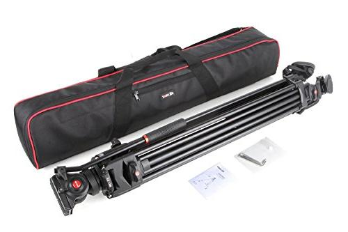 """VILTROX VX-18M Heavy Duty with Drag and Quick 74"""" Loading with Carrying Bag,Horseshoe Shaped Bracket"""