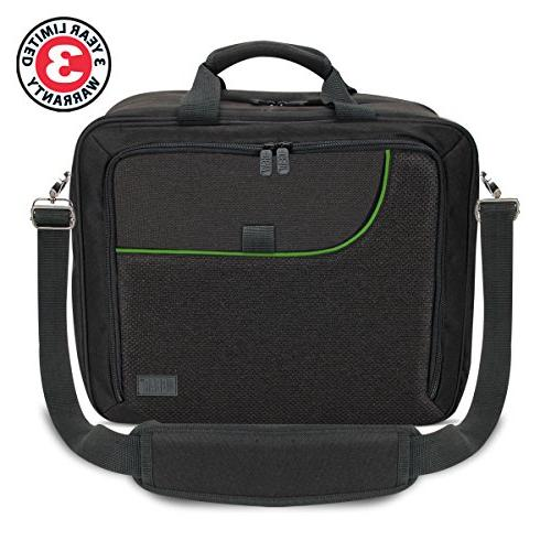 USA Gear Case with / Xbox Carrying Bag Controllers, & w/ Shoulder Strap, Accessory Storage Customizable Interior -