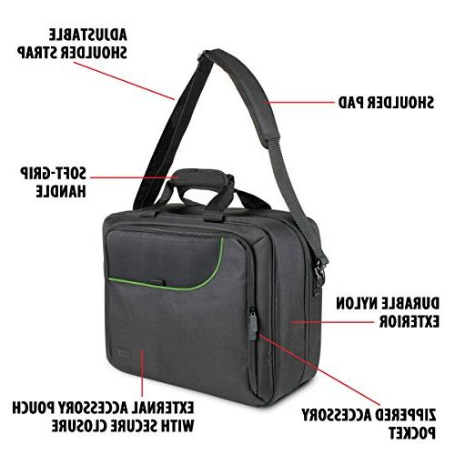 USA Case with Xbox Carrying Bag Controllers, w/ Adjustable Strap, Accessory Storage Customizable -