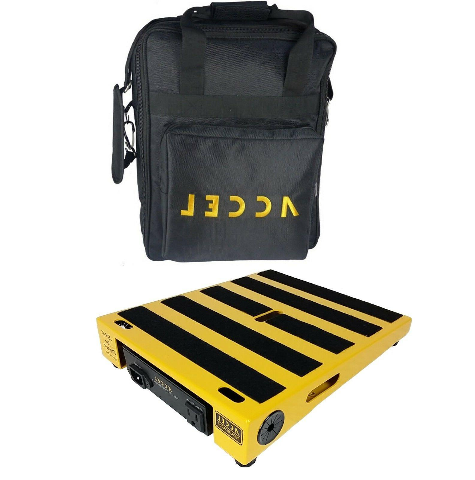 Pedal Board /& Carrying Case Yellow Accel XTA10 Pro Compact