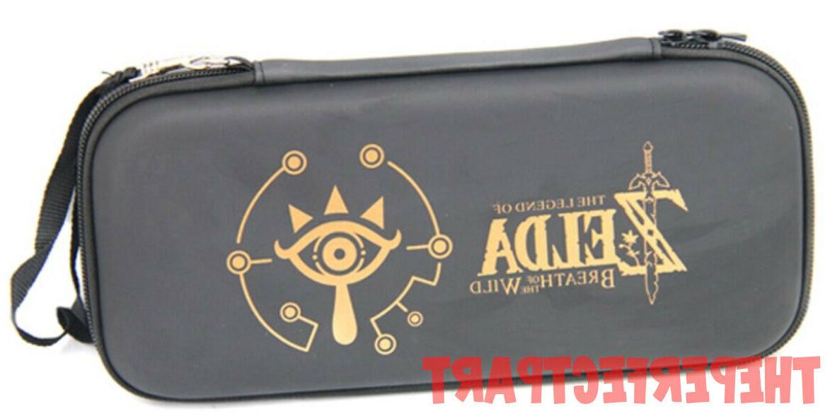 Zipper Bag Carrying Case With Handle For Nintendo Switch Con