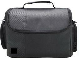 Large Black Digital Camera Carrying Bag/Case for Canon EOS T