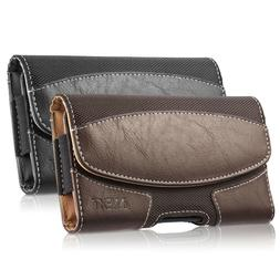 Leather Belt Clip Carrying Case Horizontal Holster Pouch For