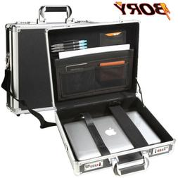 mens aluminum hard briefcase with strap business