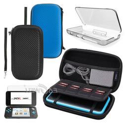 For Nintendo 2DS XL LL Carrying Case Bag /Screen Protector F