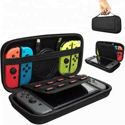Nintendo Switch Carrying Case Carbon Fiber Hard Shell Portab