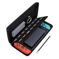amCase Hard Carrying Case for Nintendo Switch with 14 Game C