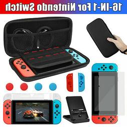 For Nintendo Switch Hard Storage Bag+Case Cover+Screen Prote