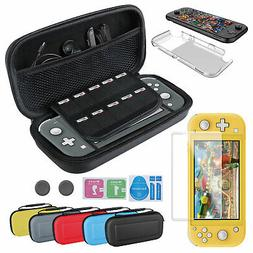 For Nintendo Switch Lite Carrying Case Bag+Shell Cover+Tempe