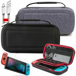 For Nintendo Switch Travel Carrying Case Bag+6ft/2M Charging