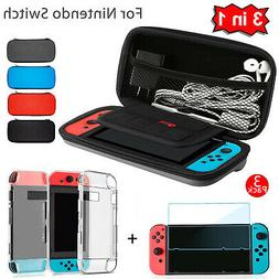 For Nintendo Switch Travel Carrying Case Bag+Shell Cover+Cle