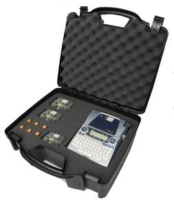 OFFICEFORCE Carrying Printer Labeler Hard Case w/Dense Foam