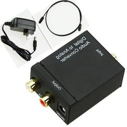Digital Optical Coaxial Toslink Signal to Analog RCA L/R Aud