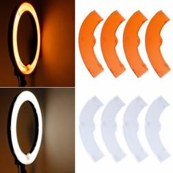 """Orange White Color Filter Set for Neewer 18"""" 75W 600W+55W 24"""
